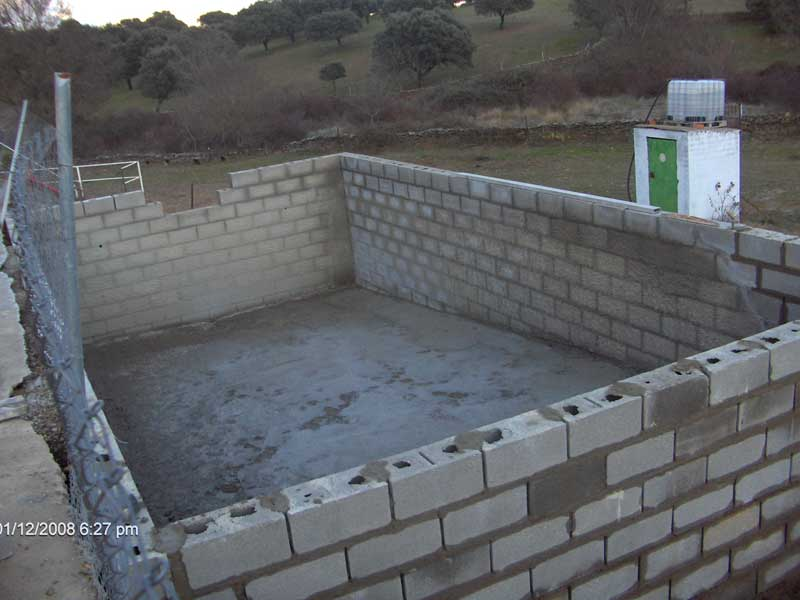 Construccion de piscinas en hormigon gunitado waterplas for Construir pileta de hormigon
